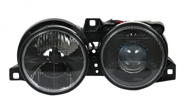 Scheinwerfer Klarglas für BMW E30 Bj. 82-94 Schwarz mit Fadenkreuz