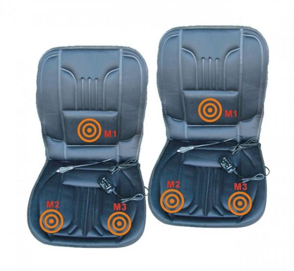 2 x PKW Sitzheizung 12V 2 Heizstufen mit Massage + 12V 3fach Verteiler