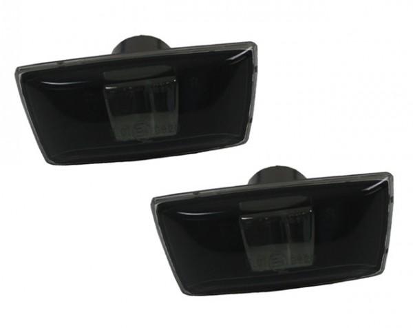 Seitenblinker Klarglas Schwarz für Opel Corsa D Bj. 2006-2010