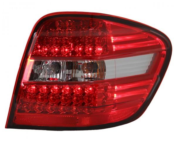 LED Rückleuchten für Mercedes W164 M-Klasse Bj. 05-08 Rot/Chrom