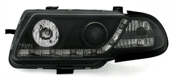 Scheinwerfer Tagfahrlicht Optik Opel Astra F Bj. 94-98 Schwarz