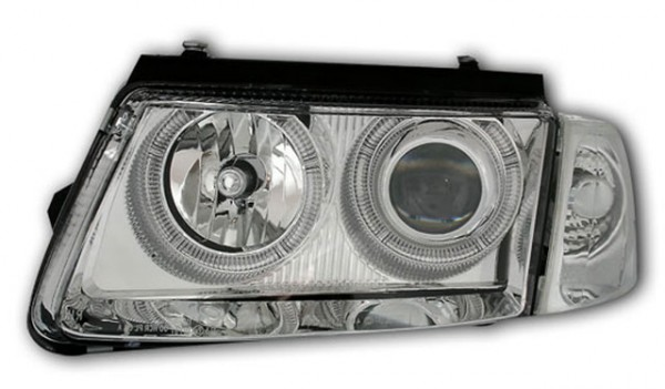 Scheinwerfer Angel Eyes VW Passat 3B Bj. 96-00 Chrom