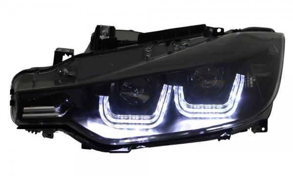 Scheinwerfer DRL U-Tube TFL Tagfahrlicht R87 für 3er BMW F30 F31 Schwarz