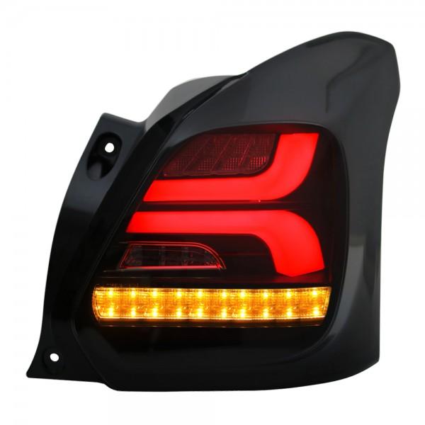 LED Lightbar Rückleuchten für Suzuki Swift 5 V AZ Bj. 2017- Schwarz/Smoke