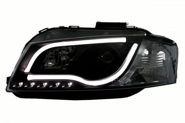Scheinwerfer Light Tube Audi A3 8P Bj. 03-08 Schwarz
