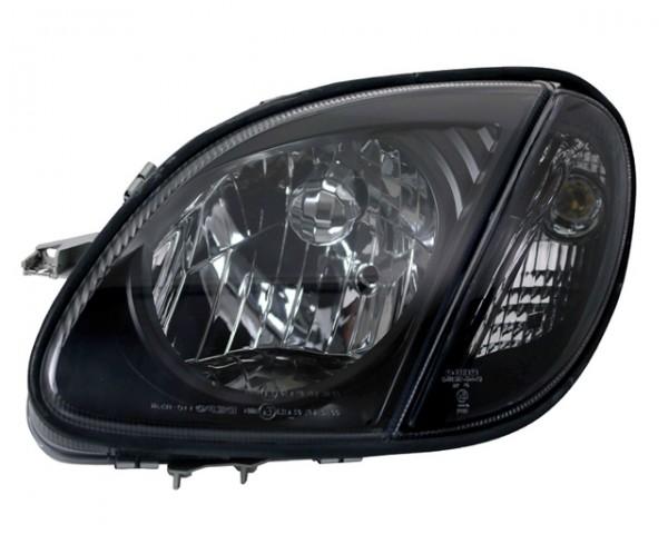 Scheinwerfer Klarglas Mercedes SLK R170 Bj. 96-04 Schwarz