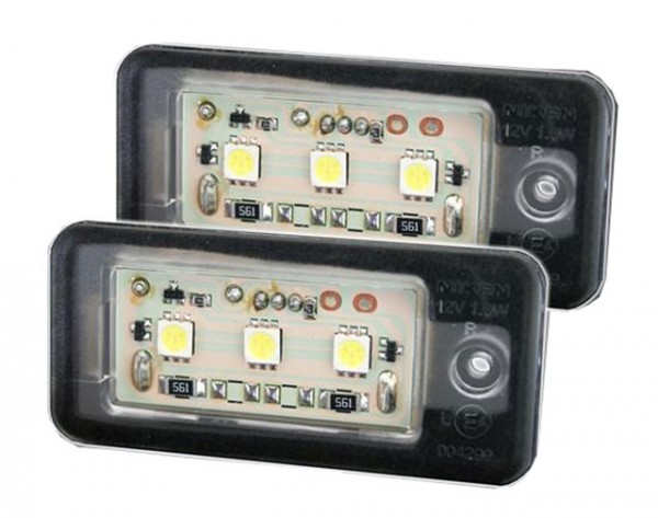 LED Kennzeichenbeleuchtung Audi RS4 / Avant / Quattro Bj. 06-08