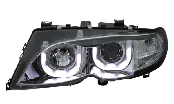 Scheinwerfer 3D Angel Eyes BMW E46 Limo Touring 01-05 Chrom