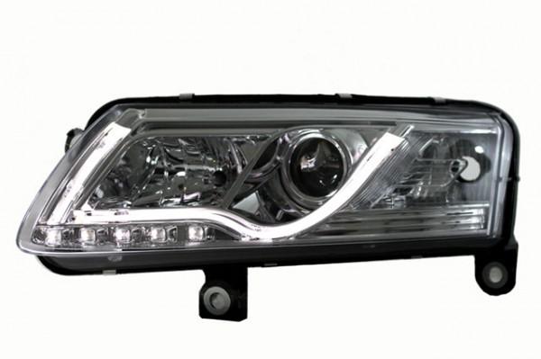 Scheinwerfer Light Tube für Audi A6 4F Bj. 04-08 Chrom