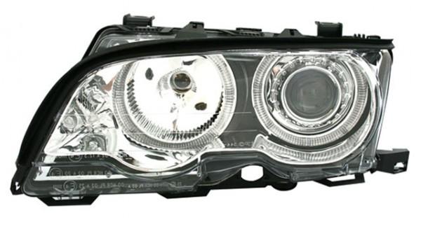 Scheinwerfer Angel Eyes BMW E46 Coupe/Cabrio Bj. 01-03 Chrom