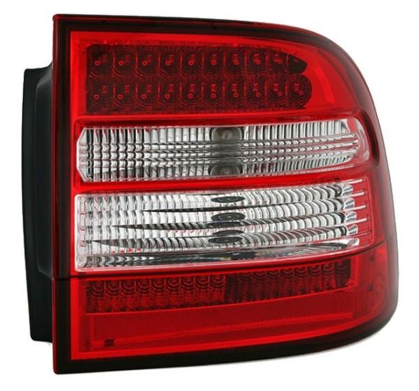 LED Rückleuchten für Porsche Cayenne Bj. 02-07 Rot/Chrom