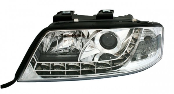 Scheinwerfer Tagfahrlicht Optik Audi A6 4B C5 97-01 Chrom
