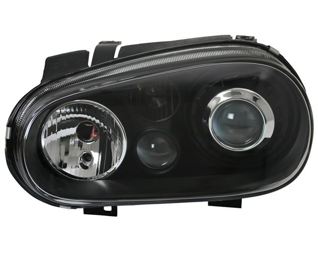 scheinwerfer klarglas vw golf 4 bj 97 03 schwarz r32 look. Black Bedroom Furniture Sets. Home Design Ideas