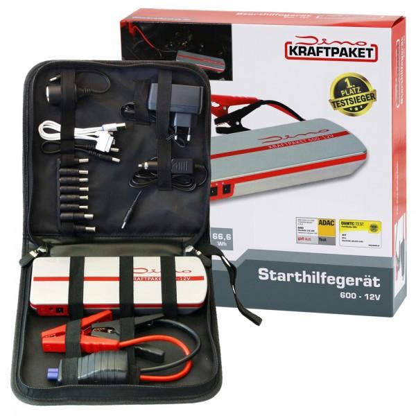 Dino 136102 KRAFTPAKET 600A 12V Mobile Batterie Starthilfe Gerät Powerbank
