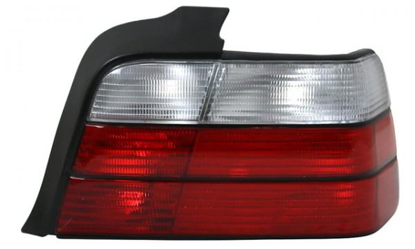 Rückleuchten Klarglas BMW E36 Limo Bj. 90-98 Rot/Weiss