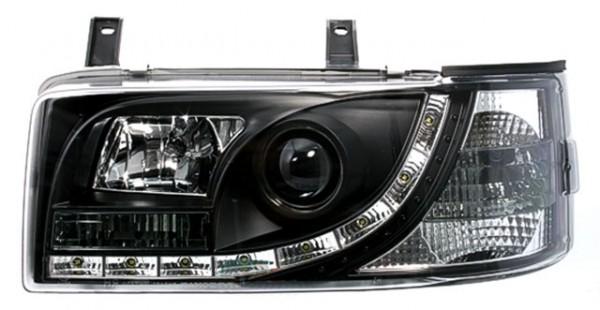 Scheinwerfer DRL Tagfahrlicht für VW T4 BJ 90-03 Schwarz