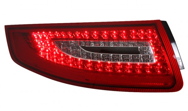 LED Rückleuchten für Porsche 911 997 Bj. 04-08 Rot/Chrom