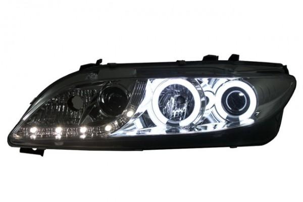 Scheinwerfer Tagfahrlicht Optik Mazda 6 Bj. 02-08 Chrom mit NSW