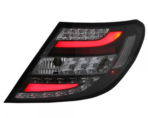LED Lightbar Rückleuchten Mercedes C-Klasse W204 Bj. 2011-2014 Schwarz