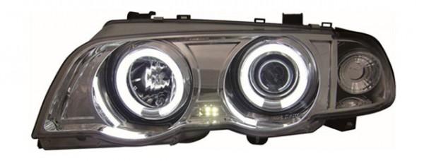 Scheinwerfer Angel Eyes CCFL BMW E46 Limo Bj. 98-01 Chrom