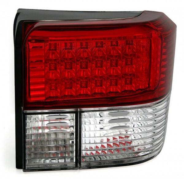 LED Rückleuchten Klarglas für VW T4 Bus Bj. 90-03 Rot/Chrom