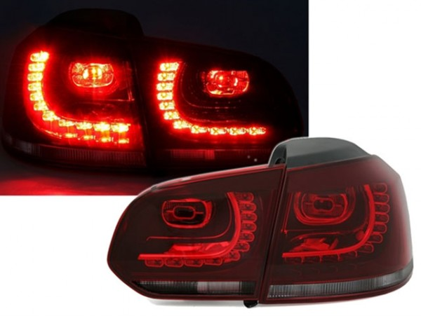 LED Rückleuchten VW Golf 6 VI Rot/Smoke GTI R Look