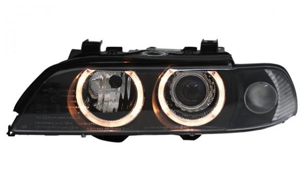 Xenon D2S Scheinwerfer Angel Eyes für BMW E39 Limo Bj. 00-03 Schwarz