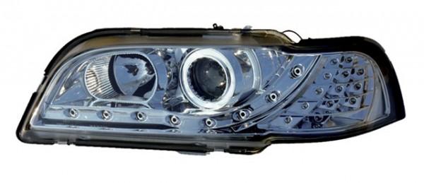 Scheinwerfer Tagfahrlicht Optik Volvo V40/S40 Bj. 95-99 Chrom