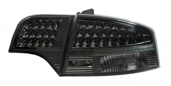 LED Rückleuchten Audi A4 B7 Limo Bj. 04-08 Schwarz/Smoke