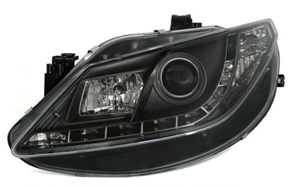 Scheinwerfer Tagfahrlicht Optik Seat Ibiza 6J Bj. 08-12 Schwarz