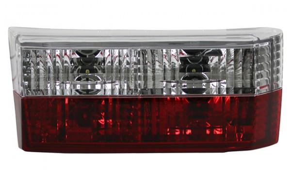 Rückleuchten Klarglas für VW Golf 1 Cabrio Bj. 79-93 Rot/Chrom