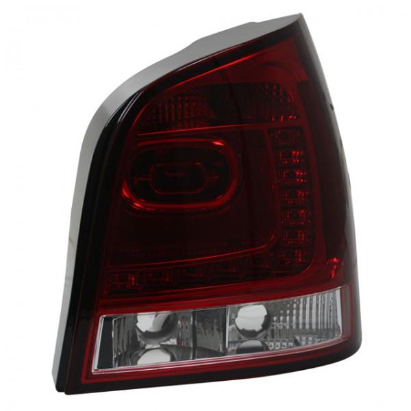 LED Rückleuchten in 6R Look VW Polo 9N3 Bj. 05-09 Rot/Chrom