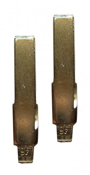 2 x Schlüsselrohling für VW Innenbahn