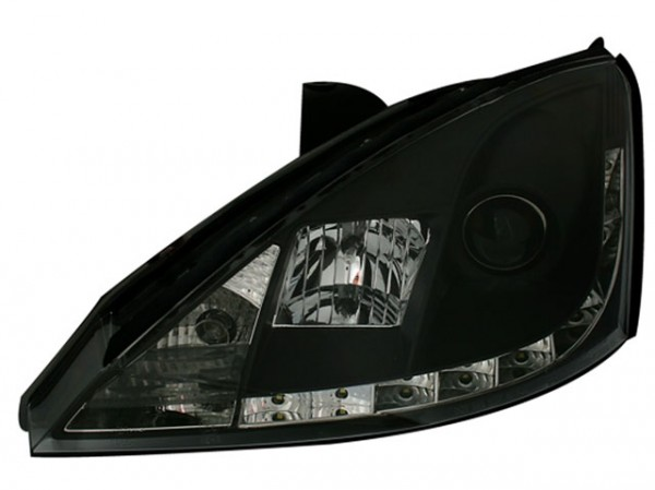 Scheinwerfer Tagfahrlicht Optik Ford Focus 1 Bj. 98-01 Schwarz