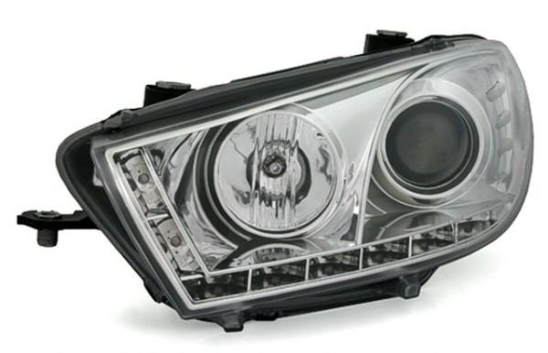 Scheinwerfer Tagfahrlicht Optik für VW Scirocco Bj. 08- Chrom