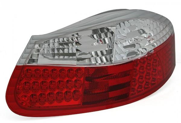 LED Rückleuchten für Porsche Boxster 986 Bj. 96-04 Rot/Chrom