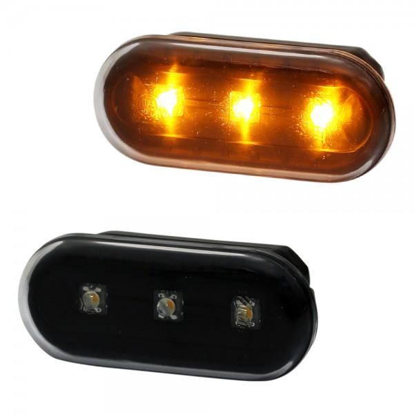 LED Seitenblinker Set Schwarz für VW Polo 9N