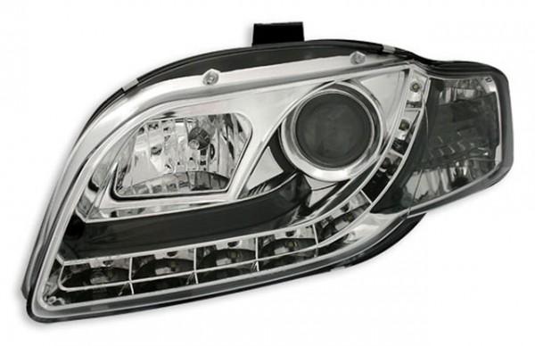 Scheinwerfer Tagfahrlicht Optik Audi A4 B7 04-07 Chrom
