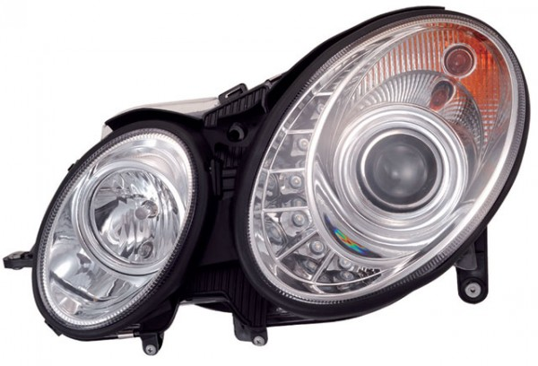 Xenon D2S Scheinwerfer TFL Optik Mercedes Benz W211 Chrom