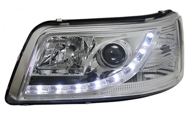 Scheinwerfer Tagfahrlicht Optik für VW T5 Bj. 03-09 Chrom