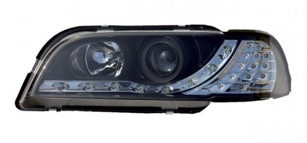 Scheinwerfer Tagfahrlicht Optik für Volvo V40/S40 Bj. 95-99 Schwarz