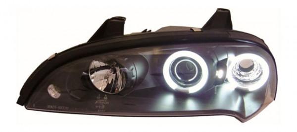 Scheinwerfer Angel Eyes CCFL für Opel Tigra Bj. 94-00 Schwarz