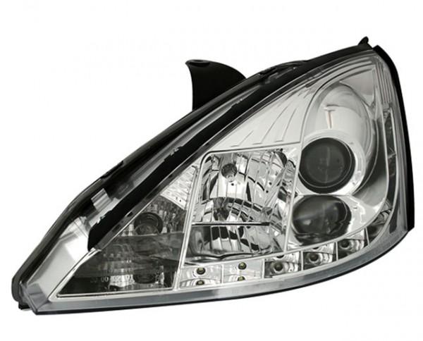 Scheinwerfer Tagfahrlicht Optik Ford Focus 1 Bj. 01-04 Chrom