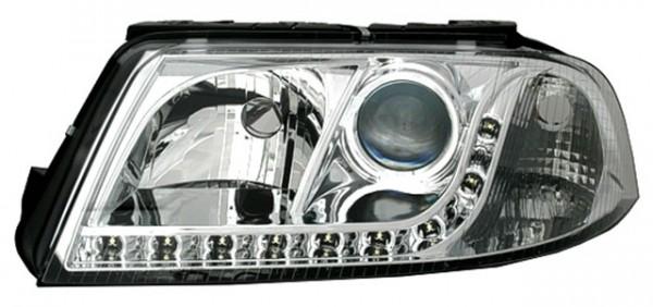Scheinwerfer Tagfahrlicht Optik für VW Passat 3BG Bj. 00-05 Chrom