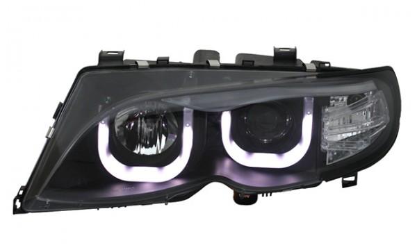 Scheinwerfer 3D Angel Eyes BMW E46 Limo/Touring 01-05 Schwarz