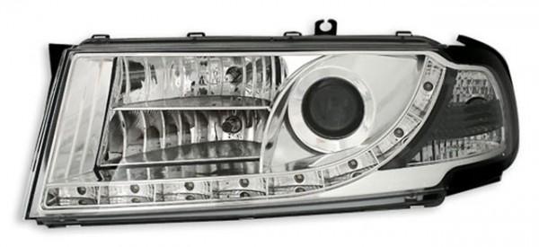 Scheinwerfer Tagfahrlicht Optik für Skoda Octavia Bj. 00-04 Chrom