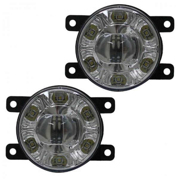 LED Nebelscheinwerfer Set + TFL Tagfahrlicht Citroen C4 Bj. 04-10