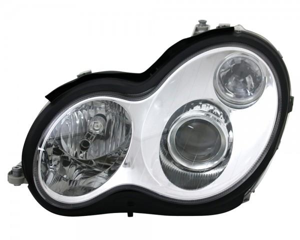 Scheinwerfer Klarglas für Mercedes W203 C-Klasse 00-04 Chrom