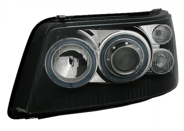 Scheinwerfer Angel Eyes für VW T5 Bj. 2003-2009 Schwarz