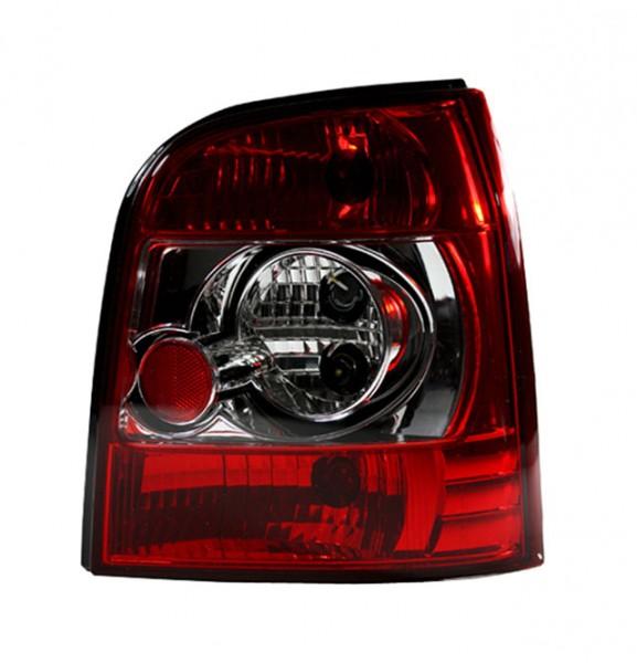 Rückleuchten Klarglas für Audi A4 B5 Avant Bj. 95-01 Rot/Chrom